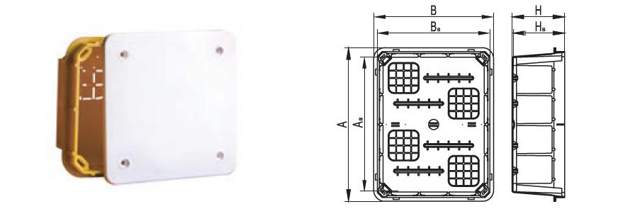коробка для твердых стен ip40