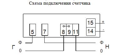 Схема подключения счетчика NIK 2102-02 М1В