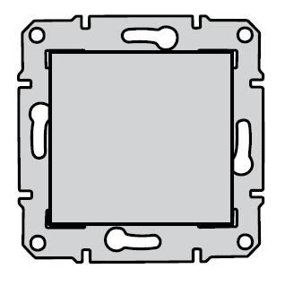 Схема переключателя 1-клавишного Sedna, Schneider Electric