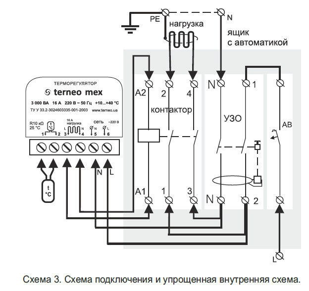 Программируемый терморегулятор для теплого пола terneo pro - 3