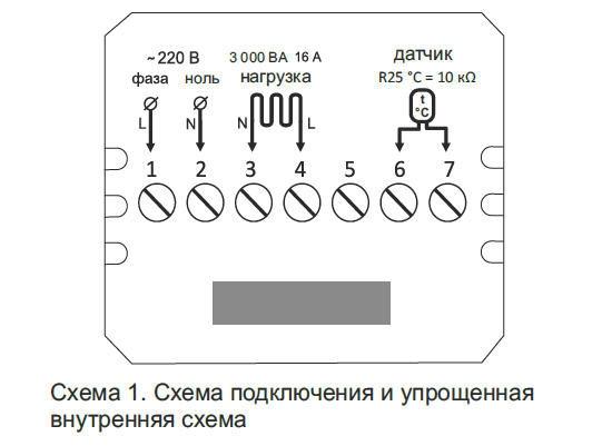 Программируемый терморегулятор для теплого пола terneo pro - 1
