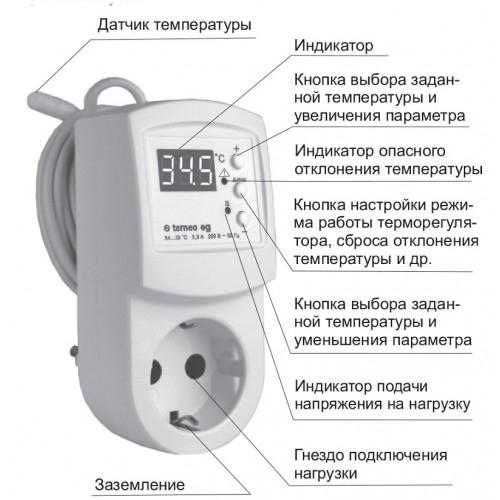 Терморегулятор для поддержания температуры в инкубаторах terneo-eg