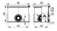 Смотровой переходной колодец без дна для двустенных труб, 335х240х255мм 025003 DKC 0