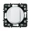 Лицевая панель для выключателя на 2 направления тонкий, цвет белый, Legrand Celiane 0