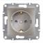 Механизм розетки 2К+З, 16А, немецкий стандарт, со шторками, цвет белый, Asfora, Schneider Electric 0