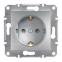 Механизм розетки 2К+З, 16А, немецкий стандарт, цвет белый, Asfora, Schneider Electric 0