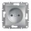 Механизм розетки без заземления, цвет белый, Asfora, Schneider Electric 0