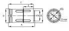 Переходник армированная труба-жесткая труба, IP67, д.25мм 0