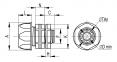 Переходник армированная труба-коробка, IP65, 1и1/4