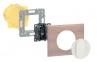 Лицевая панель для выключателя двухклавишного с индикацией (подсветкой), цвет белый, Legrand Celiane 0