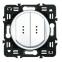 Лицевая панель для выключателя двухклавишного с индикацией (подсветкой), цвет белый, Legrand Celiane 2