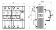 Дифференциальный автомат АД14 4Р 50 А 100 мА IEK, MAD10-4-050-C-100 0