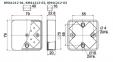 Коробка КМ41212-02 распаечная для о/п 75х75х20мм слон.кость 1