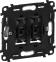 Лицевая панель для выключателя 2-клавишного с подсветкой, цвет слоновая кость, Legrand, Valena Life 0