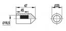 Наконечник вертикального заземлителя д.16 мм, латунь, NE1402, DKC 0