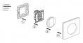 Лицевая панель для выключателя 2-кл., цвет белый, Legrand Celiane 0