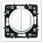 Лицевая панель для выключателя 2-кл., цвет белый, Legrand Celiane 2