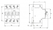 Дифференциальный автоматический выключатель KZS-4M 3p+N C 6/0,03 тип AC (6kA) 2174021 ETI 0