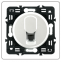 Лицевая панель для розетки RJ-11 телефонная, цвет белый, Legrand Celiane 0