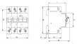 Дифференциальный автоматический выключатель KZS-4M 3p+N C 25/0,03 тип AC (6kA) 2174026 ETI 0