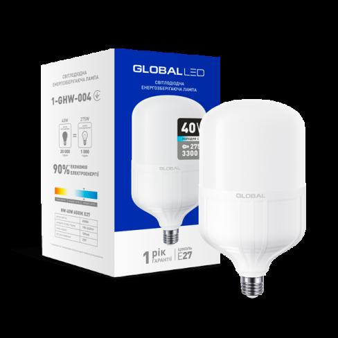 Высокомощная лампа LED лампа HW GLOBAL 40W 6500K E27 (1-GHW-004) (NEW)