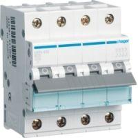 Автоматический выключатель HAGER NRN401 4p 1A, х-ка C, 25кА