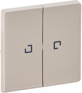 Лицевая панель для выключателя 2-клавишного с подсветкой, цвет слоновая кость, Legrand, Valena Life