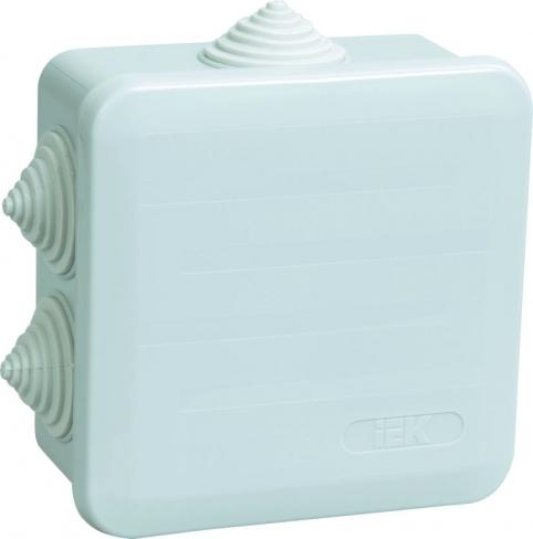 Коробка КМ41255 распаечная для о/п 100х100х50мм IP44 (6 г/в)
