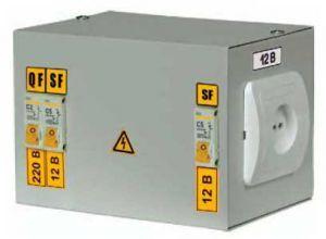 Ящик с понижающим трансформатором ЯТП-0,25 220/42-3 36 УХЛ4 IP30, IEK