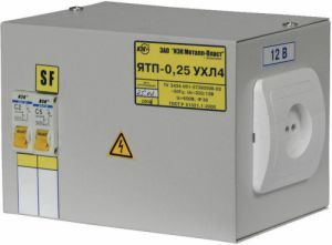 Ящик с понижающим трансформатором ЯТП-0,25 380/24-3 36 УХЛ4 IP30, IEK