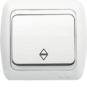 Выключатель проходной 1-кл EL-BI TUNA белый