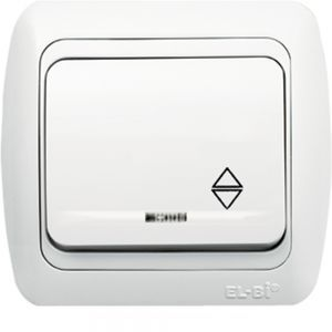 Выключатель проходной с подсветкой 1-кл EL-BI TUNA белый