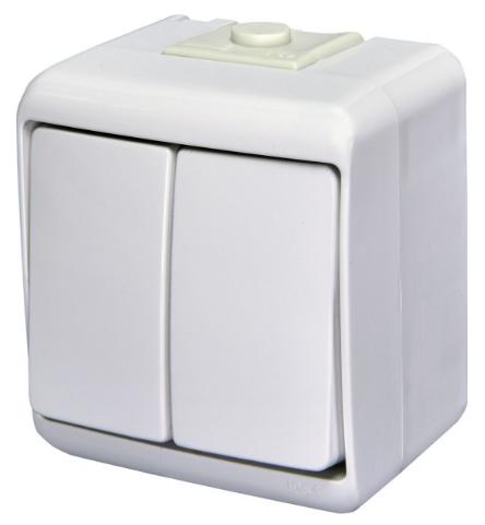 Выключатель 2-клавишный (IP54) VHE-2 4668001