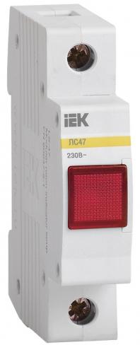 Сигнальная лампа ЛС-47 с неоновой лампой красная, IEK