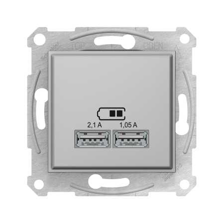USB розетка 2.1A, цвет титан, Sedna, Schneider Electric