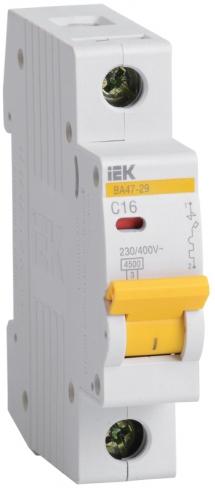 Автоматический выключатель ВА 47-29 1P 40A 4,5кА х-ка D IEK, MVA21-1-040-D