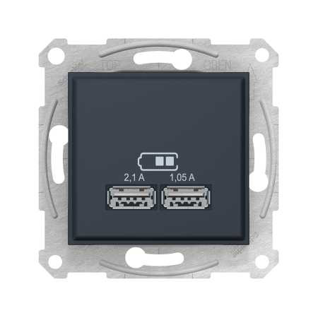 USB розетка 2,1A, цвет графит, Sedna, Schneider Electric