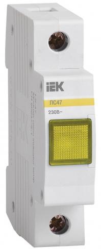 Сигнальная лампа ЛС-47 с неоновой лампой желтая, IEK