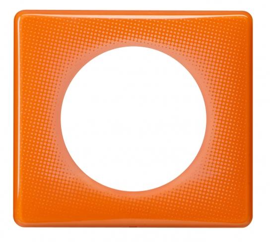 Рамка 1 пост, классика, цвет Оранжевый муар, Legrand Celiane