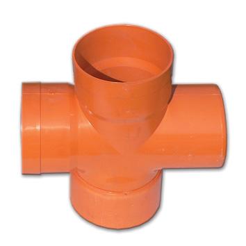 Крестообразное соединение под 45° для дренажных труб и б/н канализации, полипропилен, диаметр вн., мм 90 022090 DKC