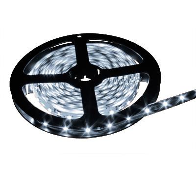 LED лента 5050 2T (низкокачественная), не герметичная, цвет белый холодный, 60 светодиодов на метр