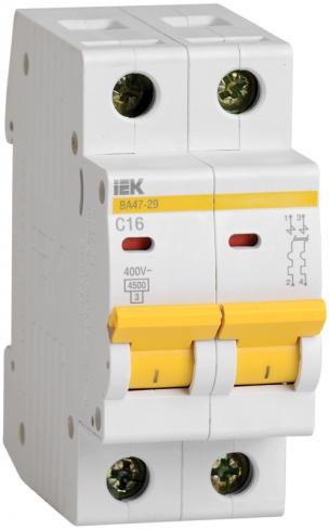Автоматический выключатель ВА 47-29 2P 32A 4,5кА х-ка B IEK, MVA21-2-032-B