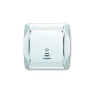 Кнопочный выключатель с подсветкой Carmen Plus Viko