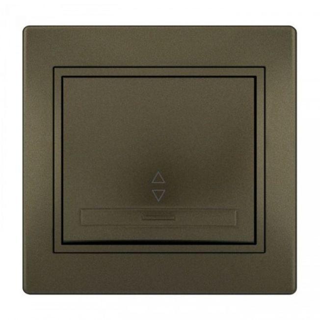 Выключатель промежуточный светло-коричневый MIRA Lezard