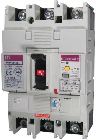Автоматический выключатель со встроенным блоком УЗО EB2R  250/3L 250А 3р, 4671582, ETI