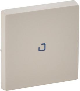 Лицевая панель для выключателя 1-клавишного с подсветкой, цвет слоновая кость, Legrand, Valena Life