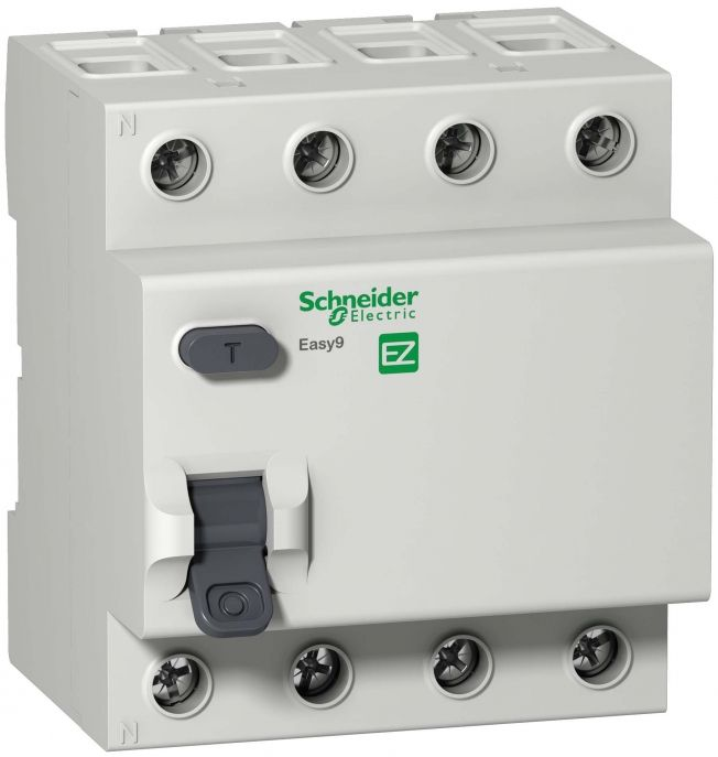 УЗО 4р 40А 30mA, тип AC, Easy9 Schneider Electric, EZ9R34440