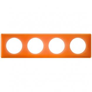 Рамка 4 поста, классика, цвет Оранжевый муар, Legrand Celiane