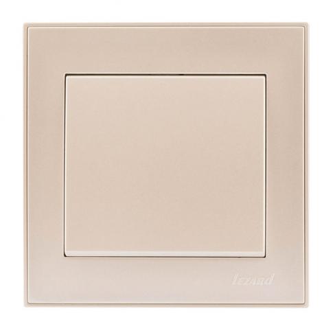 Выключатель одноклавишный 10-амперный, жемчужно-белый перламутр, Rain, Lezard