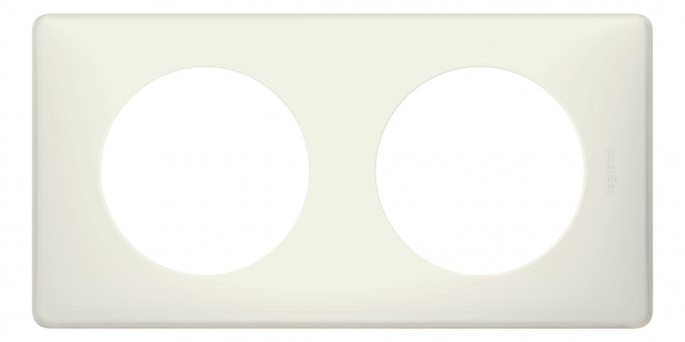 Рамка 2 поста, классика, цвет Белый муар, Legrand Celiane